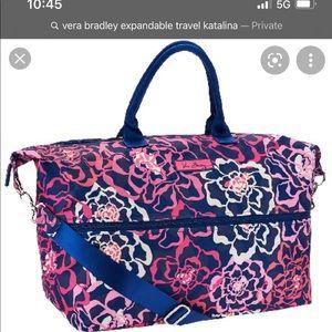Vera Bradley expandable travel bag, Katalina Pink!